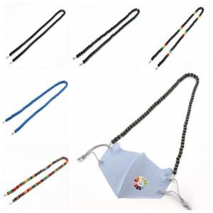 Hängende Halskette Rund Perlenkette Schmuck Maske Perlen Verlängerungskette hängende hölzerne Korn-Mode-Männer Schmuck Derocative DHF1363