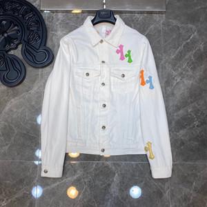 Hombres de los diseñadores de ropa para hombre 2020 de la chaqueta del dril Mujeres Moda Casual Abrigos Negro Azul rompevientos Outwear la ropa del estilista mezclilla talla S-XL