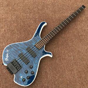 custom shop,hardwork 4 Strings electric bass Guitar .Rosewood fingerboard guitarra.support customization,blue color gitaar
