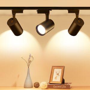 LED ضوء المسار 12W 20W 30W COB السكك الحديدية الأضواء مصباح المصابيح تتبع تركيبات إضاءة لمبة سبوت لمعرض مول متجر البقالة