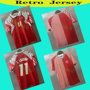 1986 1992 Dänemark Retro Fussball Jerse 86 91 Dänemark Nationalmannschaft Michael Laudat Elkjær Berggreen Olsen Vintage Classic Football Shirt