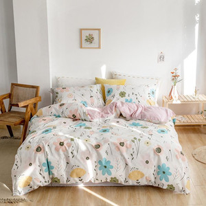 2020 New 100% Cotton Printed Floral Bedding Set Soft Duvet Cover Sets Bed Sheet Pillowcases Single Queen King Size JPcs