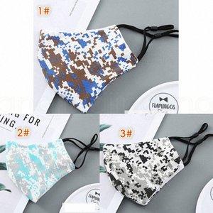 Thin-Camouflage-Maske earloop für Männer und Frauen verstellbaren Sommer weiche atmungsaktive Outdoor-Tarnung Designer Adult Masken FFA4022-1 QN8v #