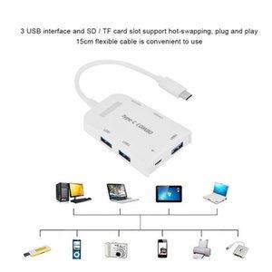 고속 타입 -C으로 3 개 포트의 USB 3 0.0 허브 지원 OTG 기능 사우 스 다코타 / Tf를 마이크로 SD 카드 리더와 마이크로 USB 포트 무료 배송