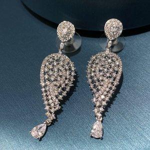 2020 Trendy Wedding Party Bride Earrings Brand Designer Water Drop Earring Shine Crystal Luxury Jewelry Wholesale