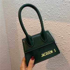Freier Tropfen-Verschiffen Jacquemus MINI Baguette New-Art-Leder-Muster-Flap Hüfttasche Frauen Einfache Ein-Schulter Handtasche Kleine Größe 14 * 6 * 11cm #