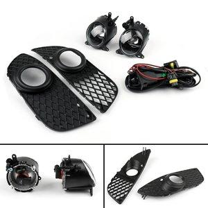 Areyourshop carro pára-choques dianteiro Limpar luzes de nevoeiro w Covers / Switch Kit Fit For 08-12 Mitsubishi Lancer Car Auto Peças Acessórios