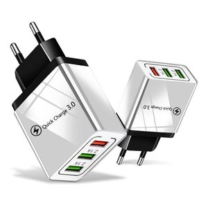 Cgjxs Qc 3 .0 Wall Charger 3 Ports Travel Adapter Quick Charge Multi-USB-Telefon-Adapter Eu Us Tragbare schnell aufladen für Smartphone