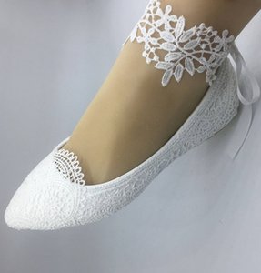 Handmade shoes Rhinestone Wedding Dress Flat Heel Bridesmaid Shoes Comfortable Dancing Party Prom Shoes Ankle flower A2