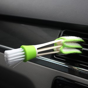 Accesorios parte mayor del coche de plástico diy nuevo coche respiradero del aire acondicionado Persianas Cepillo de limpieza para la serie
