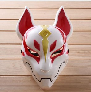 Sıcak Oyun Battle Royale Drift Fox Maske Fortress Gece Tilkisi Drift Cosplay Oyuncak Figür Fortniter Cadılar Bayramı Partisi Cosplay GB443 Maske Maskesi