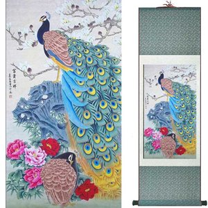 Birds and flower Art Painting Home Office Decoration Chinese scroll painting birds 19081735