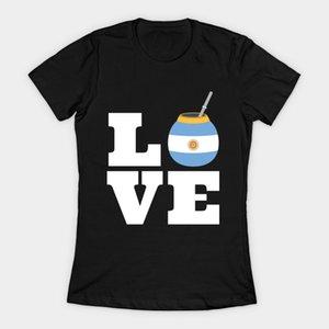 Любовь Yerba Mate Argentina Flag Женские футболки