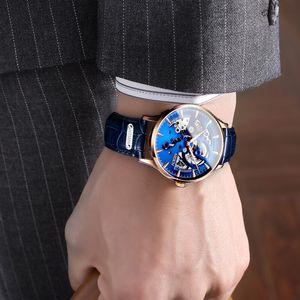 NESUN Watch Clock Skeleton Watch Automatic Mechanical Luxury Top-Brand Switzerland Men Waterproof Business Hollow Wristwatches