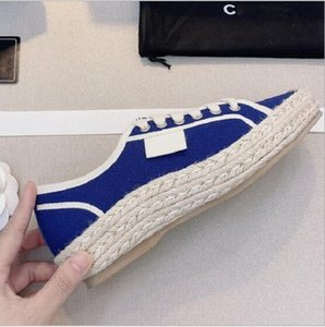 2020 new women's fisherman shoes casual square toe straw woven thick-soled inner increase women's single shoes Luxury canvas casual shoes