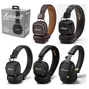Qualité Hight Marshall Headphones MAJEUR I / II / III / MID / ANC / MONITOR / MODE / EQ filaire sans fil Bluetooth casque oreille STOCKWEL Haut-parleur