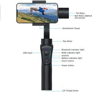 2020 جديد وصول S5B 3-محور يده المثبتات المضادة للاهتزاز والمثبت الهاتف بلوتوث الجوال المثبتات ثابت مع ترايبود شحن