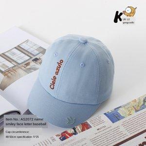 PaBCK 2020 весной и летом новые детские шляпы мальчиков и девочек письмо смайлик вышитые ребенка корейский стиль модный бейсбол Вышитые
