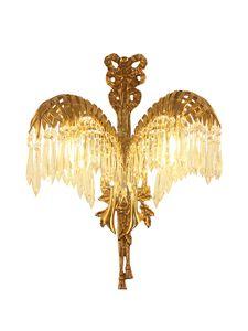 Oda Wall Bracket yaşayan yatak odası için Avrupa Lüks Kristal Duvar Işık W38cm H50cm Bakır Duvar lambası Lamba Bronz Duvar Askı Işık