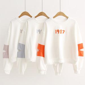 Children Hoodies Sweatshirts Girls Sport Fashion Cool comfortbale White Orange