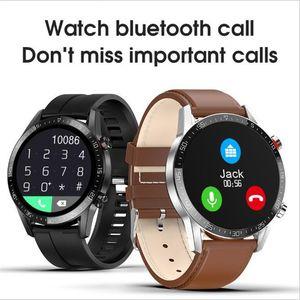 Pressão L13 relógio inteligente Bluetooth Chamada ECG PPG Heart Rate aptidão Rastreador Sangue IP68 Waterproof Smartwatch VS L11 L8