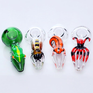Tabakpfeifen Glaslöffel Rohre 3D Insektentier Pyrex Tabakpfeife Glashandrohr dab rig