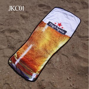 Beer - Microfiber Towel Blanket Picnic Bikini Rug Bottle Wine Beach Cover Creative Up Yoga Mat Tapestry hwjh SfTbV