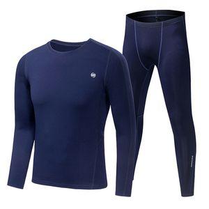 Nuovo Mens TERMICO Escursionismo Base Suits strato esterno Sport Arrampicata Snowboard Sci Underwear Warm Men Fleece T-shirt a righe pantaloni