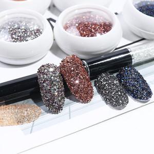 1440pcs Zirkon Strass für Nägel Schmuck Strassschmuck Glitter Diamant-Entwurf Pixie DIY Maniküre-Zubehör