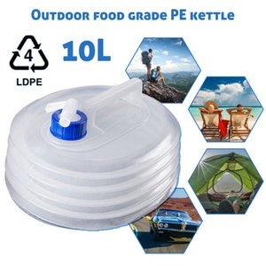 10L Outdoor Collapsible Water Bag Camping Foldable Water Containers Drinking Multifunction Storage Bottle
