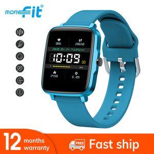 글로벌 버전 Morefit bip (빨리) 라이트 F2 스마트 시계 30 일전까지 배터리 수명 1.54 인치 IP68 방수 보수계 Smartwatch를 들어 안드로이드 아이폰 OS