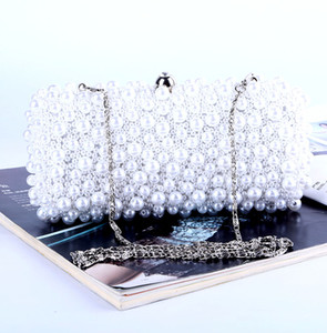 Factory direct wholesale brand new handmade perfect beaded evening bag with satin for wedding banquet party porm