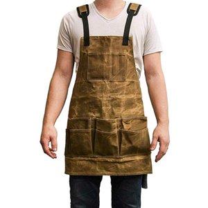 Professionista della tela di canapa del legno Grembiule Collector tela cerata lavoro grembiule impermeabile Strumento Heavy Duty lavoro Unisex
