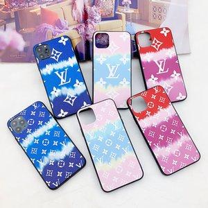 pour iPhone 11 11Pro Max Designer Phone Cases pour iPhone Xr Xs MAX 7 7Plus 8 8Plus Caisse colorée en cuir de luxe Cas de téléphone avec support de téléphone