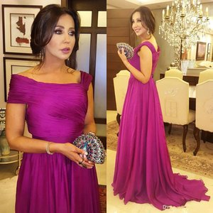 Fashion Chiffon Mother Of The Bride Dresses Elegant Pleated Chiffon Floor Length Mother Of the Groom Dress Plus Size Women Formal Wear Gown