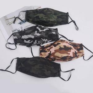 위장 방진 성인 코튼 마스크 야외 스포츠 통기성 재사용 카모 보호 얼굴 패션 4 개 스타일 FWE853 맞춤 마스크