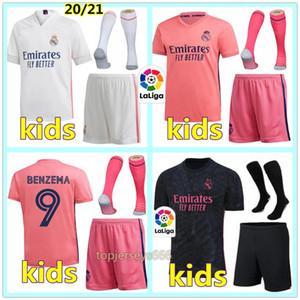 Camisetas de Real Madrid niños 20 21 camiseta de fútbol niños 2020 2021 kits de fútbol HAZARD BENZEMA camiseta de fútbol Real Madrid niño soccer jersey shirt
