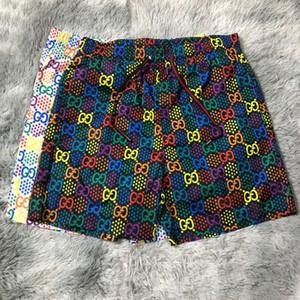Shorts Mens casuale di estate Designer Beach pantaloncini estivi di secchezza rapido Mens pantaloni della spiaggia in bianco e nero asiatico formato M-3XL