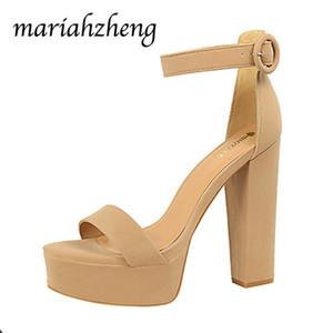 LEOPARD LAND13.5CM Fashion Thick Heel Super High Heels Sexy Women's Shoes Waterproof Platform Open Toe Belt Buckle Sandals DS 0922