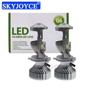 SKYJOYCE H4 LED Mini Projector Lens Car LED Headlight H4 Hi lo Beam Bulb 35W 5500K White 8000LM 12V LHD RHD Bulb Car Styling