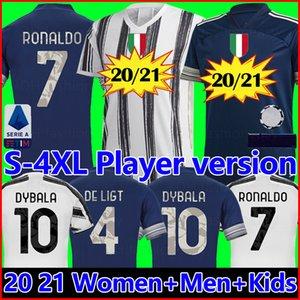 Fans Spieler version Juventus Fußball Trikot Fußball-Trikot 2020 2021 RONALDO DE LIGT 20 21 Uniformen RAMSEY DYBALA JUVE Champions League Herren + Kinder Trikot