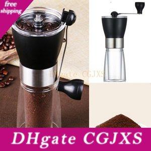 Desgaste sacudida de la mano molino de café de acero inoxidable -Resisting ahorrar espacio de cerámica núcleo del grano de café molino casa cocina molinillo de café