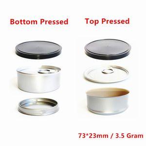 3.5g Personalizar latas Smellproof anti vazamento de vazamento de embalagem caixa de estoques selados máquina de lata prensada caixa de lata com tampa
