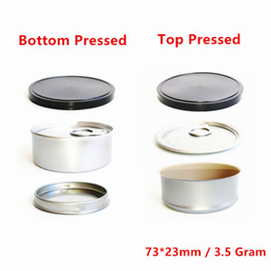 3.5g Personalizar latas de lata olor a impermeable anti fugas de fugas de la caja de la caja de la caja de la caja de lata presionada a mano sellada con tapa