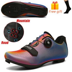 2020 Chaussures cycliste Route Vélo VTT Chaussures Homme Chaussures de vélo de montagne Vélo Homme Couple Sports de plein air Chaussures de grande taille 36-47