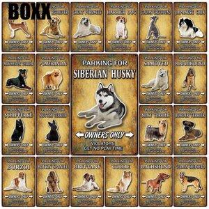 Pet Dog Collie Manchester Silky Terrier écossais Tin Métal Sign Home Decor Bar Wall Art Peinture 20 * 30 Taille CM