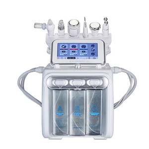 6 en 1 machine de dermabrasion hydrafacienne Machine d'oxygène hydre Machine faciale de la machine pelage ultrasonique Microdermabrasion de visage RF Machine de microdermabrasion