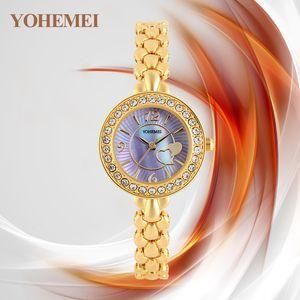 Womens Moda New Arrivals Moda Watch Belt Diamante Set Domestic Assista frete grátis Waterproof Pointer Aço