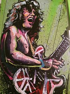 David Garibaldi Eddie Van Halen decorazione domestica dipinta a mano HD Stampa della pittura a olio su tela di canapa di arte della parete della tela di canapa Immagini 200924