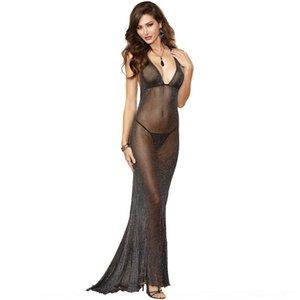 pauei w9npf размер в юбке белья женщин длиннее плюс Long M-3XL пижамы марли белья женских сексуальных перспектив серебряной юбка сексуальных пижамы